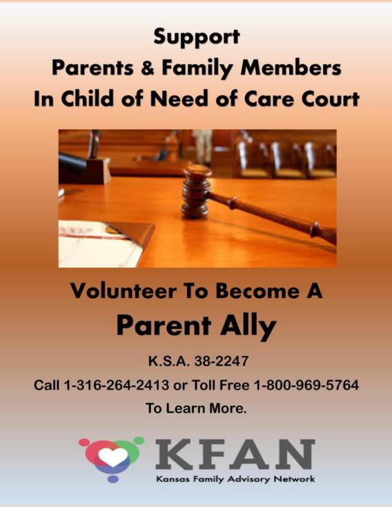 Contact KFAN from the Contact Us page for more info on becoming a Parent Ally.